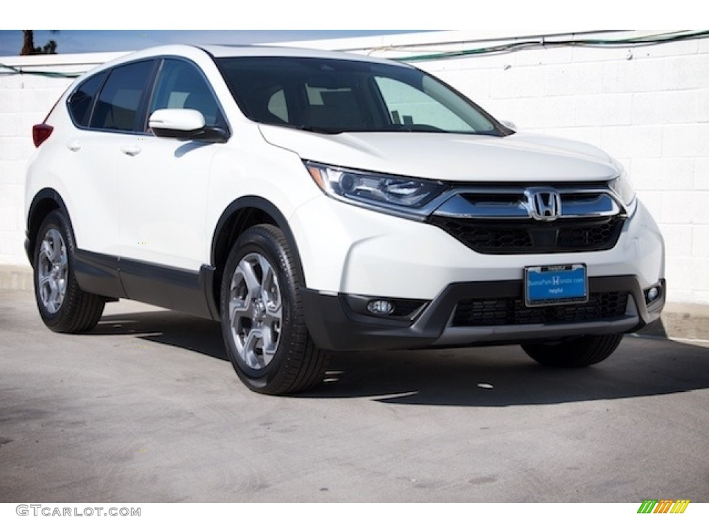 2017 CR-V EX-L - White Diamond Pearl / Black photo #1