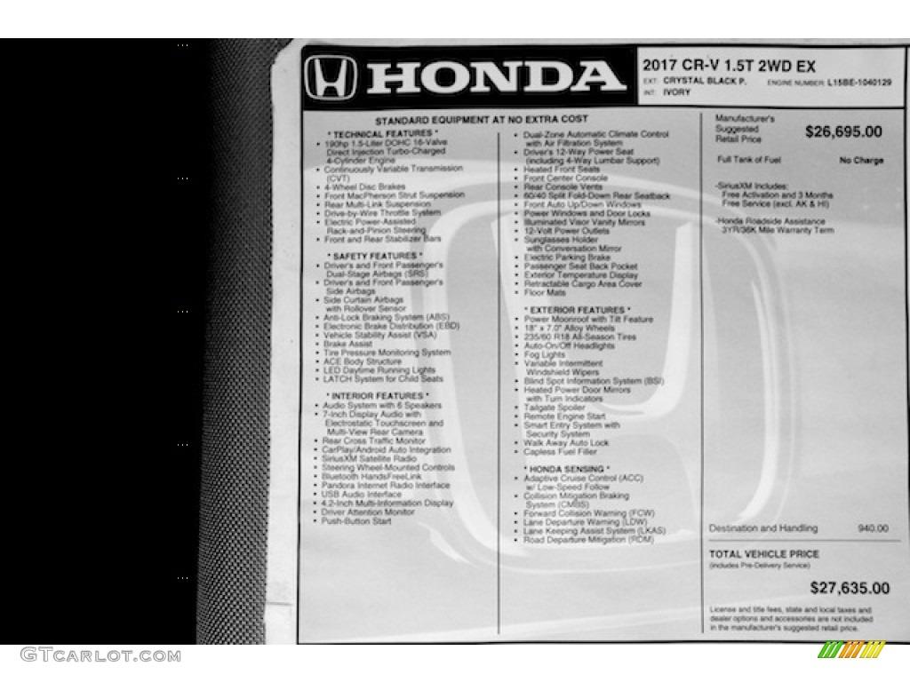2017 Honda Cr V Ex Window Sticker Photos Gtcarlot Com