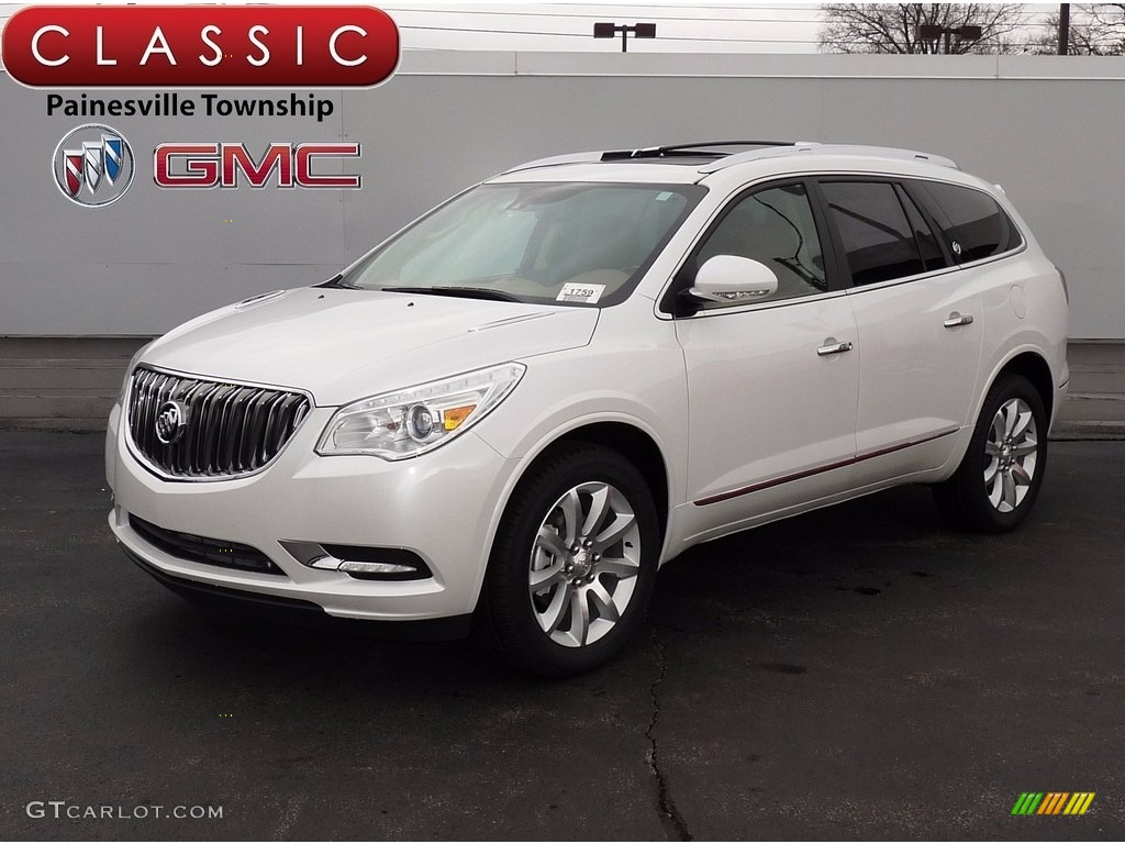 2017 White Frost Tricoat Buick Enclave Premium Awd