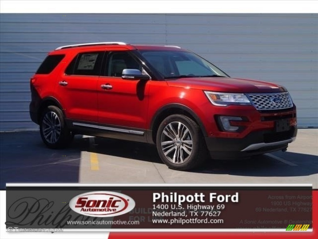 Ruby Red Ford Explorer