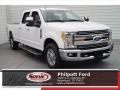Oxford White 2017 Ford F250 Super Duty Lariat Crew Cab
