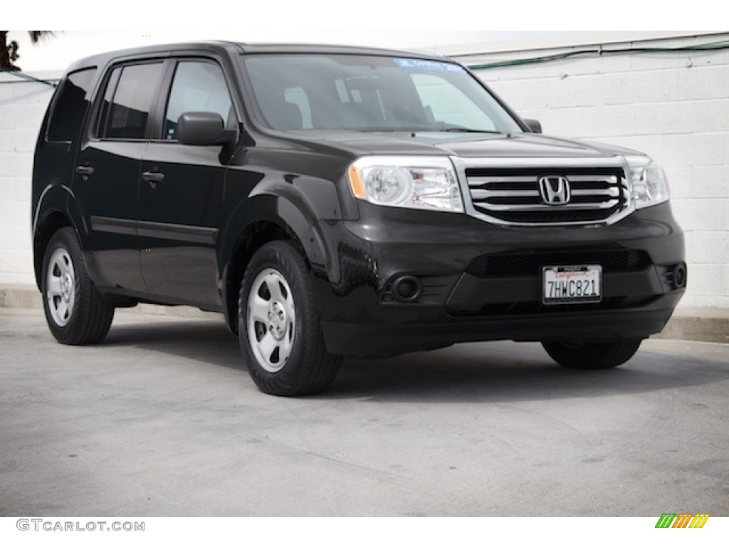 2015 crystal black pearl honda pilot lx 119719591 photo for Black honda pilot