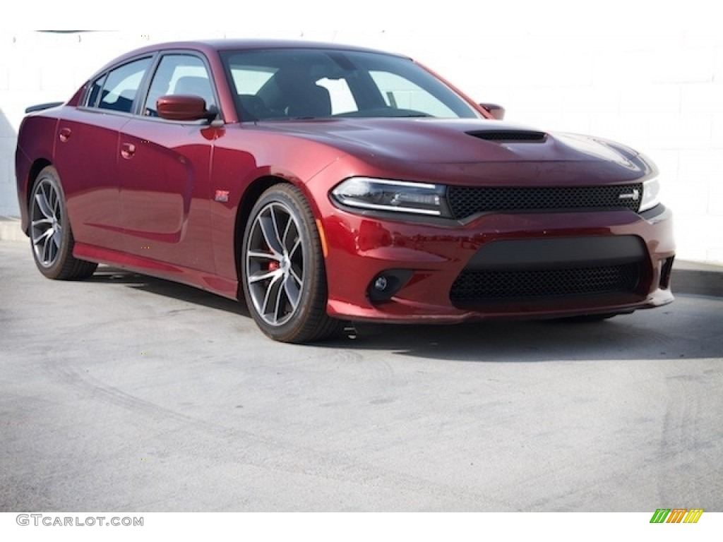 Red Dodge Charger - Octane Red Dodge Charger R T Scat Pack