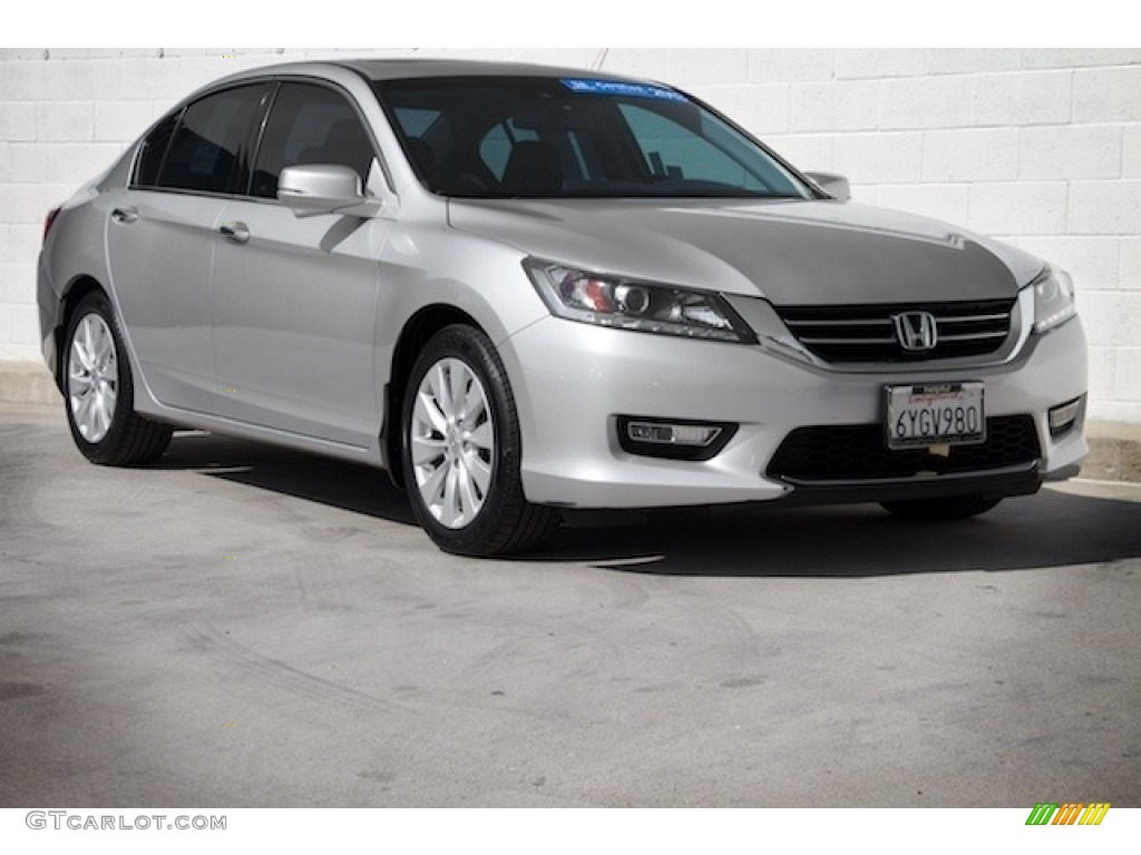 2013 alabaster silver metallic honda accord ex l v6 sedan for Honda accord ex l v6