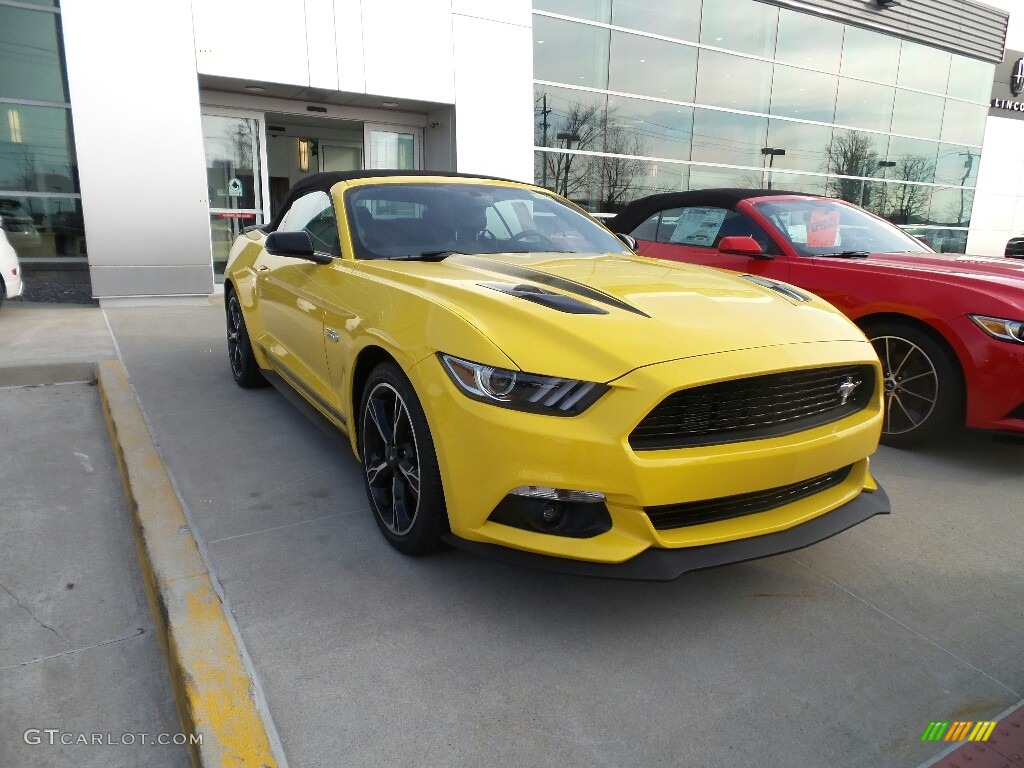 2017 mustang gt california speical convertible triple yellow ebony photo 1