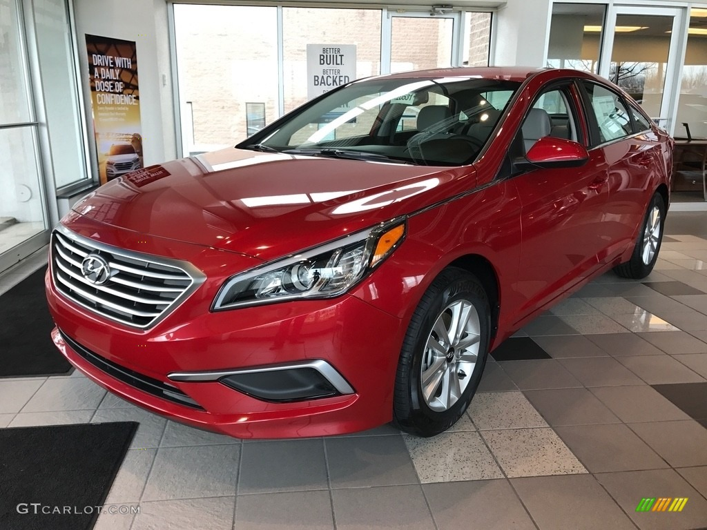 2017 Scarlet Red Hyundai Sonata Se 119792894 Photo 3