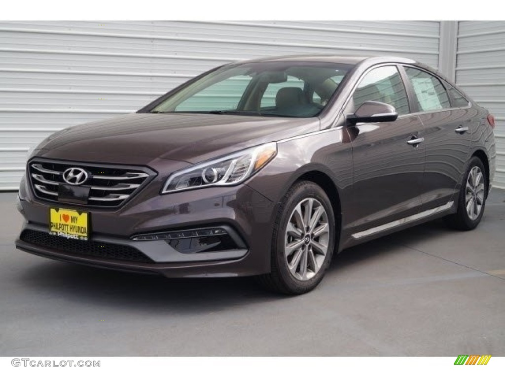 2017 Dark Truffle Hyundai Sonata Limited #119792762 Photo ...