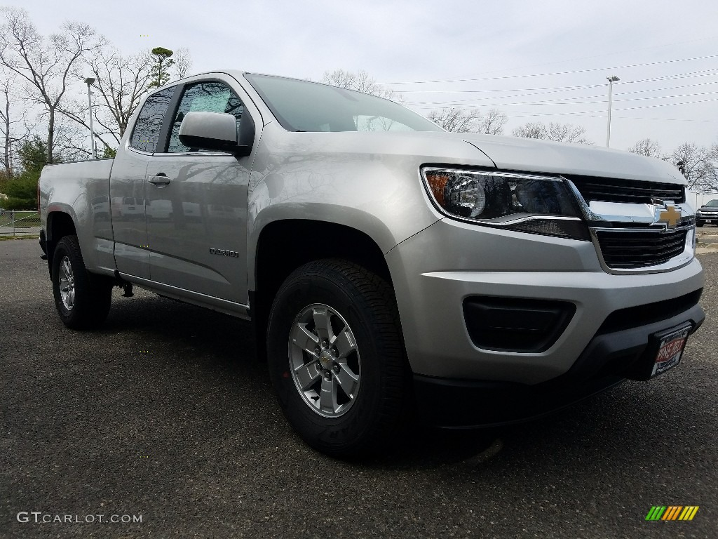 2017 silver ice metallic chevrolet colorado wt extended cab 119825121 car. Black Bedroom Furniture Sets. Home Design Ideas