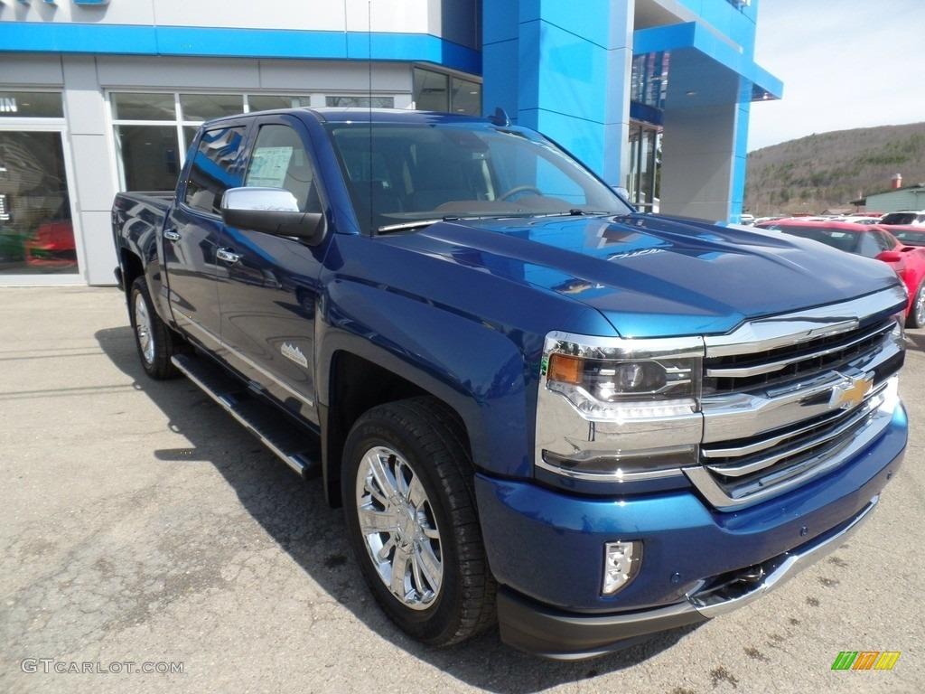 Deep Ocean Blue Metallic 2017 Chevrolet Silverado 1500 High Country Crew Cab 4x4 Exterior Photo #119875698