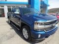 Deep Ocean Blue Metallic 2017 Chevrolet Silverado 1500 High Country Crew Cab 4x4 Exterior