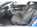 Ebony 2017 Ford Mustang V6 Coupe Interior Color