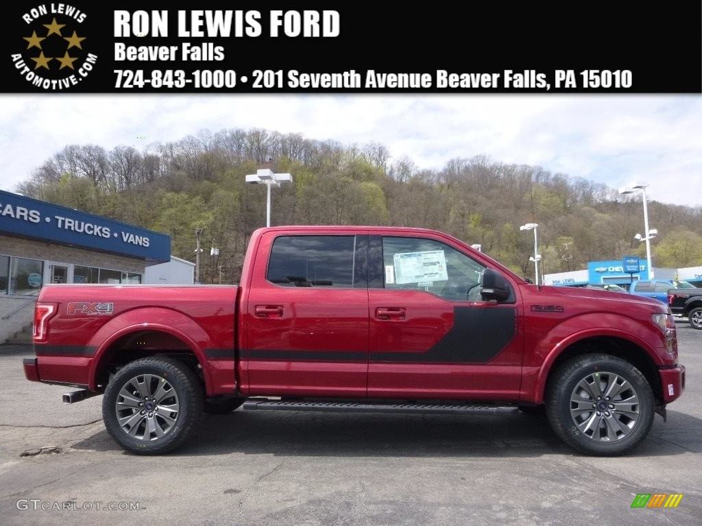 2017 F150 Xlt Supercrew 4x4 Ruby Red Black Special Edition Package Photo 1