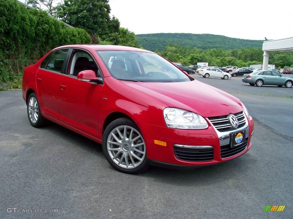 2008 Salsa Red Volkswagen Jetta Wolfsburg Edition Sedan