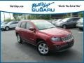 Deep Cherry Red Crystal Pearl 2014 Jeep Compass Latitude 4x4
