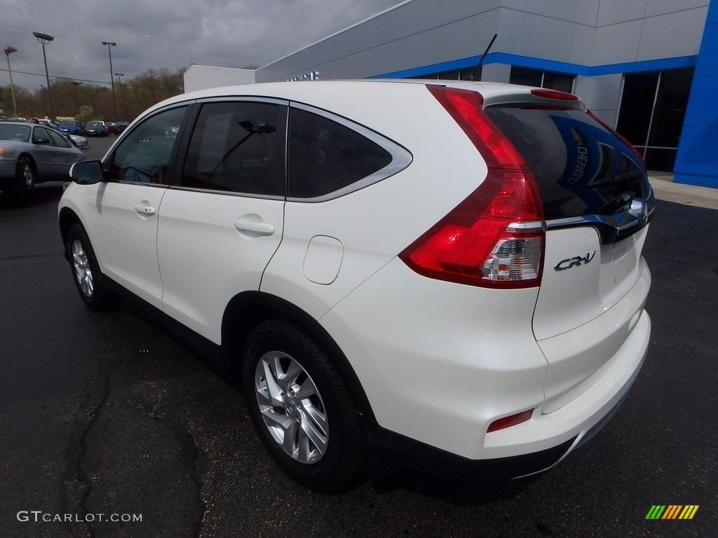 2015 CR-V EX AWD - White Diamond Pearl / Beige photo #4