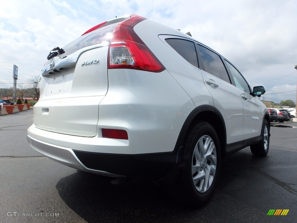 2015 CR-V EX AWD - White Diamond Pearl / Beige photo #9