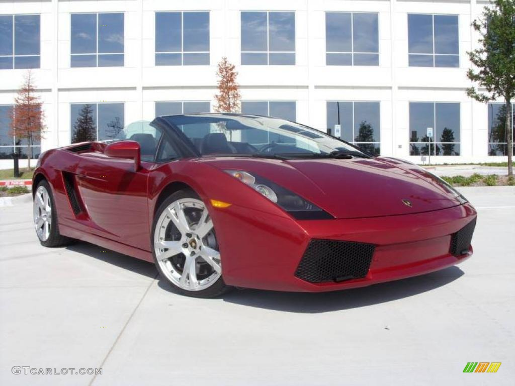 2007 Rosso Leto Red Metallic Lamborghini Gallardo Spyder