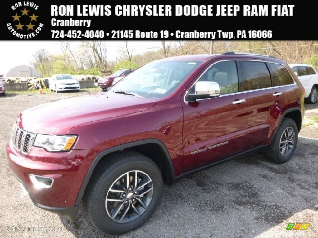 2017 Velvet Red Pearl Jeep Grand Cherokee Limited 4x4 ...