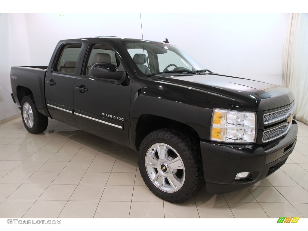 Black 2013 Chevrolet Silverado 1500 LTZ Crew Cab 4x4 Exterior Photo #120013305