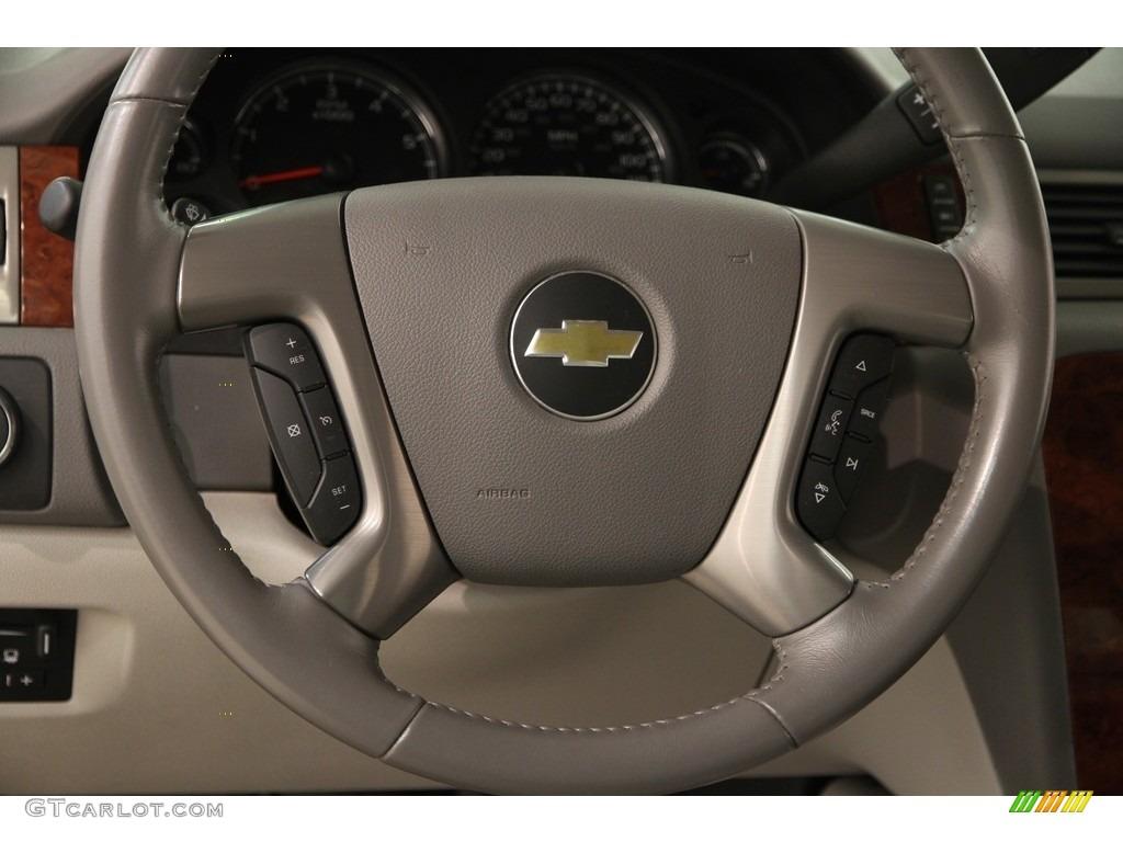 2013 Chevrolet Silverado 1500 LTZ Crew Cab 4x4 Light Titanium/Dark Titanium Steering Wheel Photo #120013455