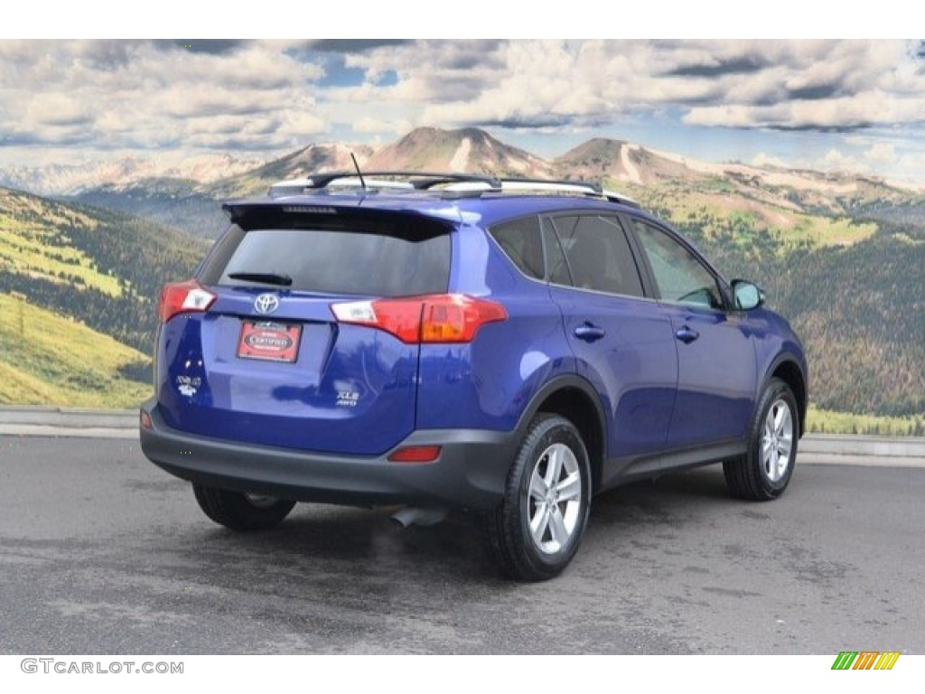 2014 blue crush metallic toyota rav4 xle awd 120044510. Black Bedroom Furniture Sets. Home Design Ideas