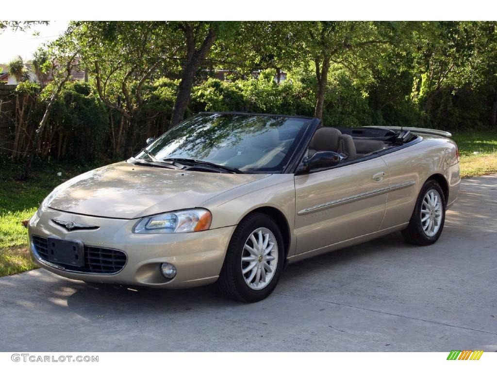 2001 Light Beige Metallic Chrysler Sebring Lxi Convertible