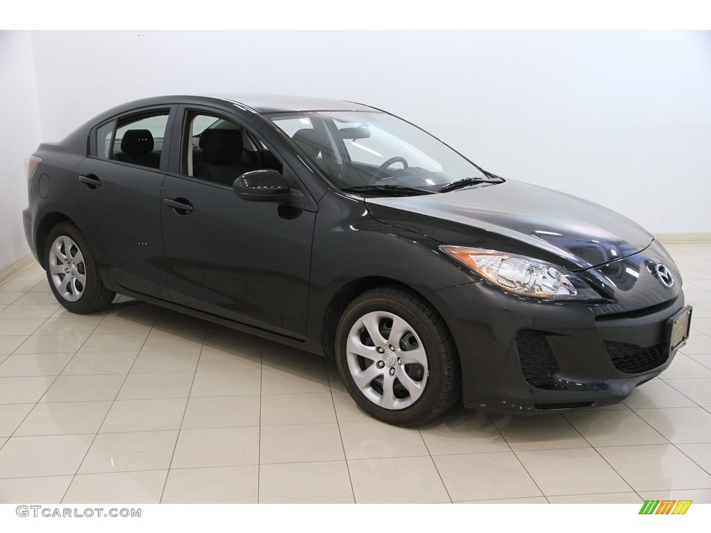 2013 black mica mazda mazda3 i sv 4 door 120106888 photo. Black Bedroom Furniture Sets. Home Design Ideas