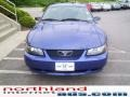 2003 Sonic Blue Metallic Ford Mustang V6 Coupe  photo #6