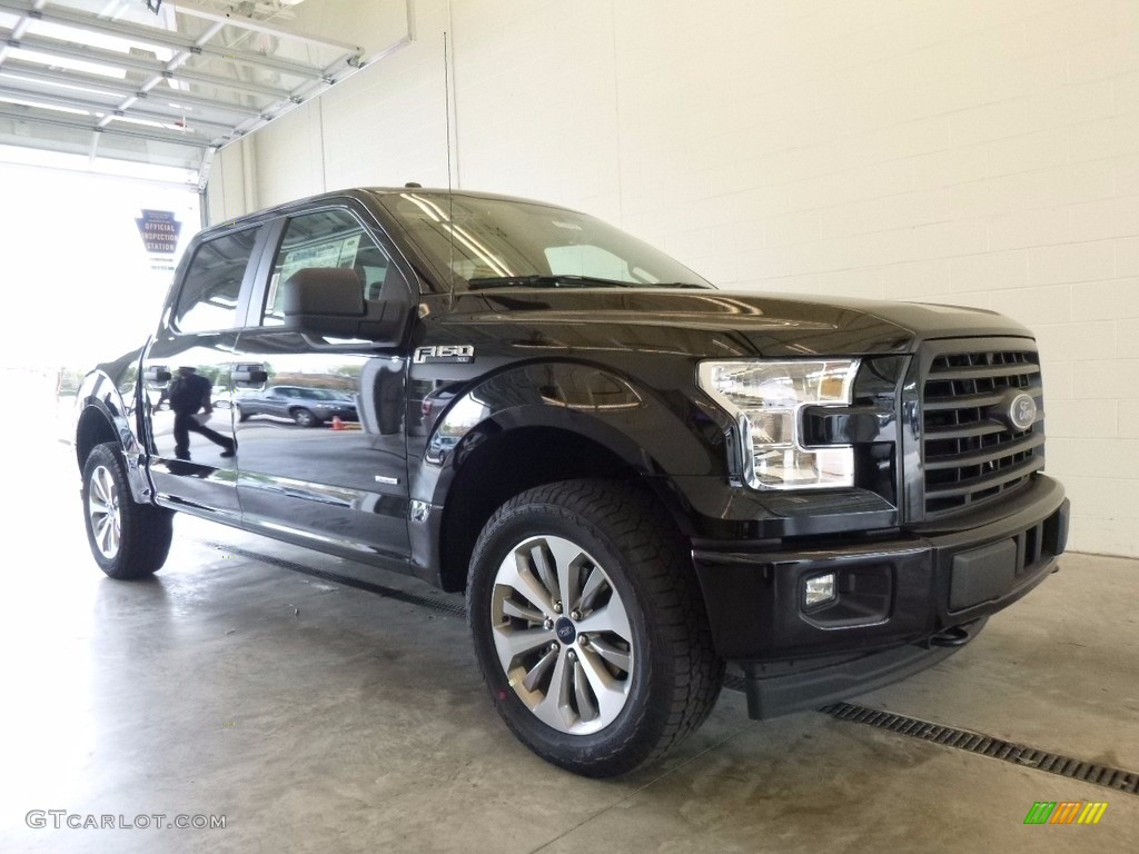 2017 shadow black ford f150 xl supercrew 4x4 120125669 car color galleries. Black Bedroom Furniture Sets. Home Design Ideas