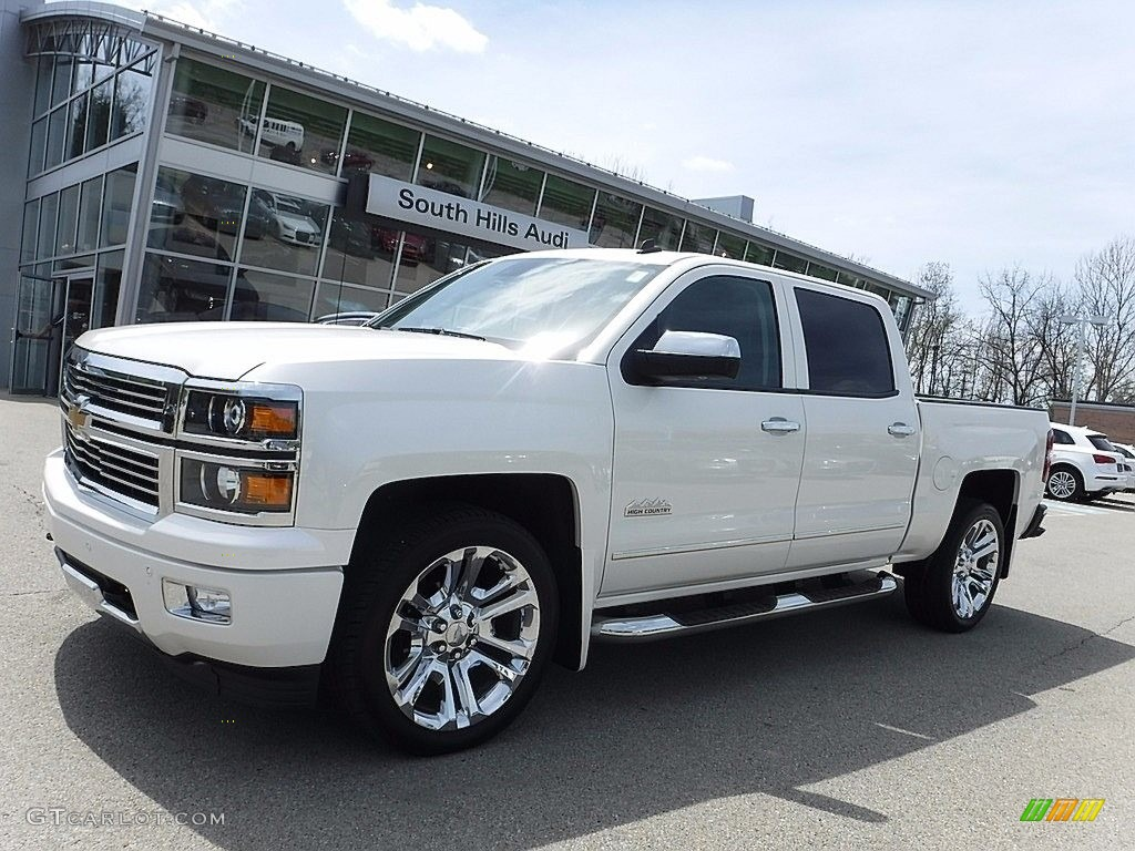 2014 white diamond tricoat chevrolet silverado 1500 high country crew cab 4x4 120125702. Black Bedroom Furniture Sets. Home Design Ideas