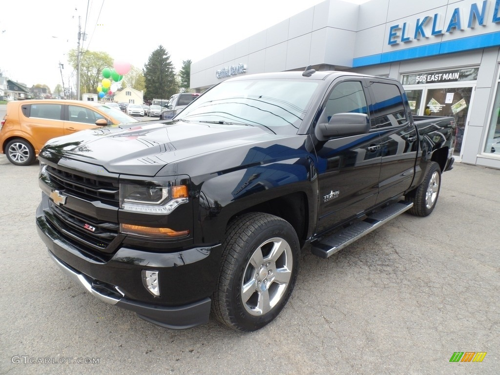 2017 black chevrolet silverado 1500 lt crew cab 4x4 120125593 car color galleries. Black Bedroom Furniture Sets. Home Design Ideas