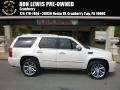 White Diamond Tricoat 2012 Cadillac Escalade Platinum AWD