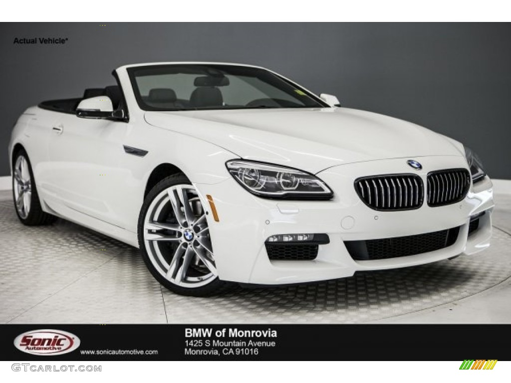 2017 6 Series 650i Convertible Alpine White Black Photo 1
