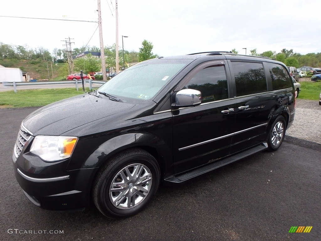2008 brilliant black crystal pearlcoat chrysler town country limited 120201494. Black Bedroom Furniture Sets. Home Design Ideas