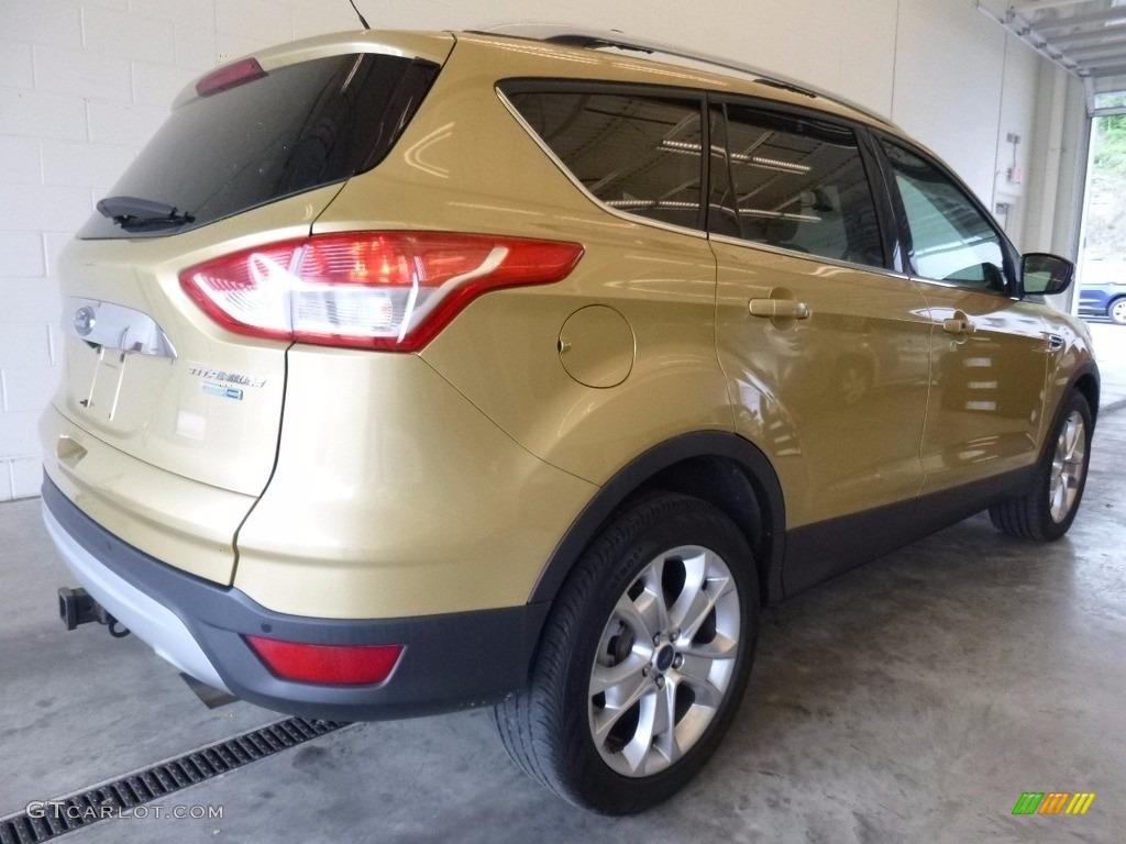 2014 Escape Titanium 2.0L EcoBoost 4WD - Karat Gold / Charcoal Black photo #2