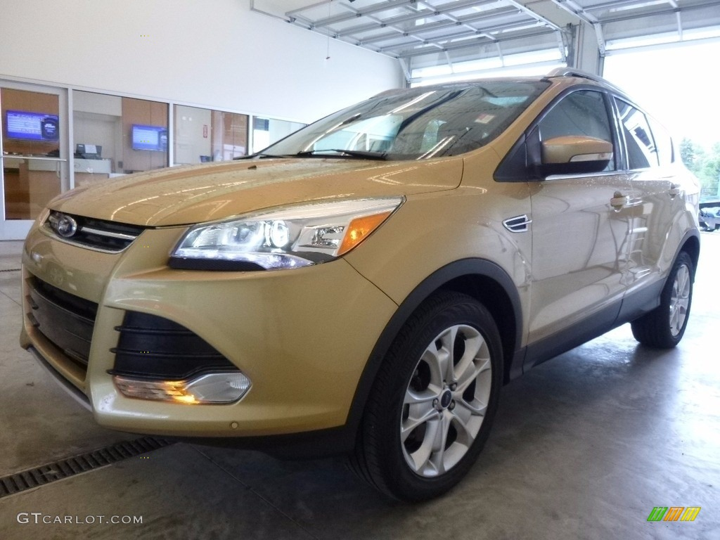 2014 Escape Titanium 2.0L EcoBoost 4WD - Karat Gold / Charcoal Black photo #5