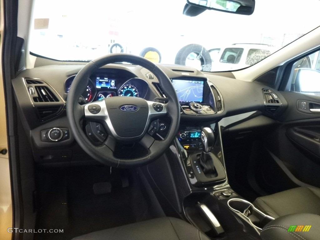 2014 Escape Titanium 2.0L EcoBoost 4WD - Karat Gold / Charcoal Black photo #9