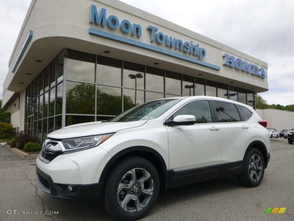 2017 CR-V EX-L AWD - White Diamond Pearl / Black photo #1