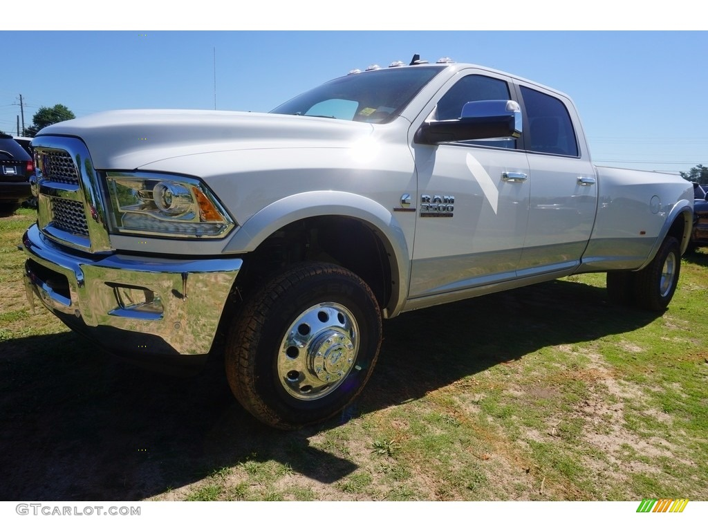 2017 bright white ram 3500 laramie crew cab 4x4 dual rear wheel 120240657 car. Black Bedroom Furniture Sets. Home Design Ideas