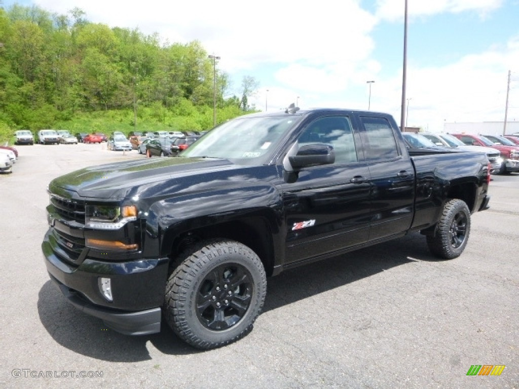 2017 black chevrolet silverado 1500 lt double cab 4x4 120240711 car color. Black Bedroom Furniture Sets. Home Design Ideas