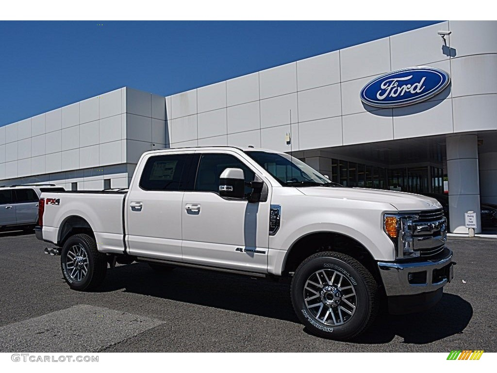 2017 white platinum ford f250 super duty lariat crew cab 4x4 120240681 car. Black Bedroom Furniture Sets. Home Design Ideas