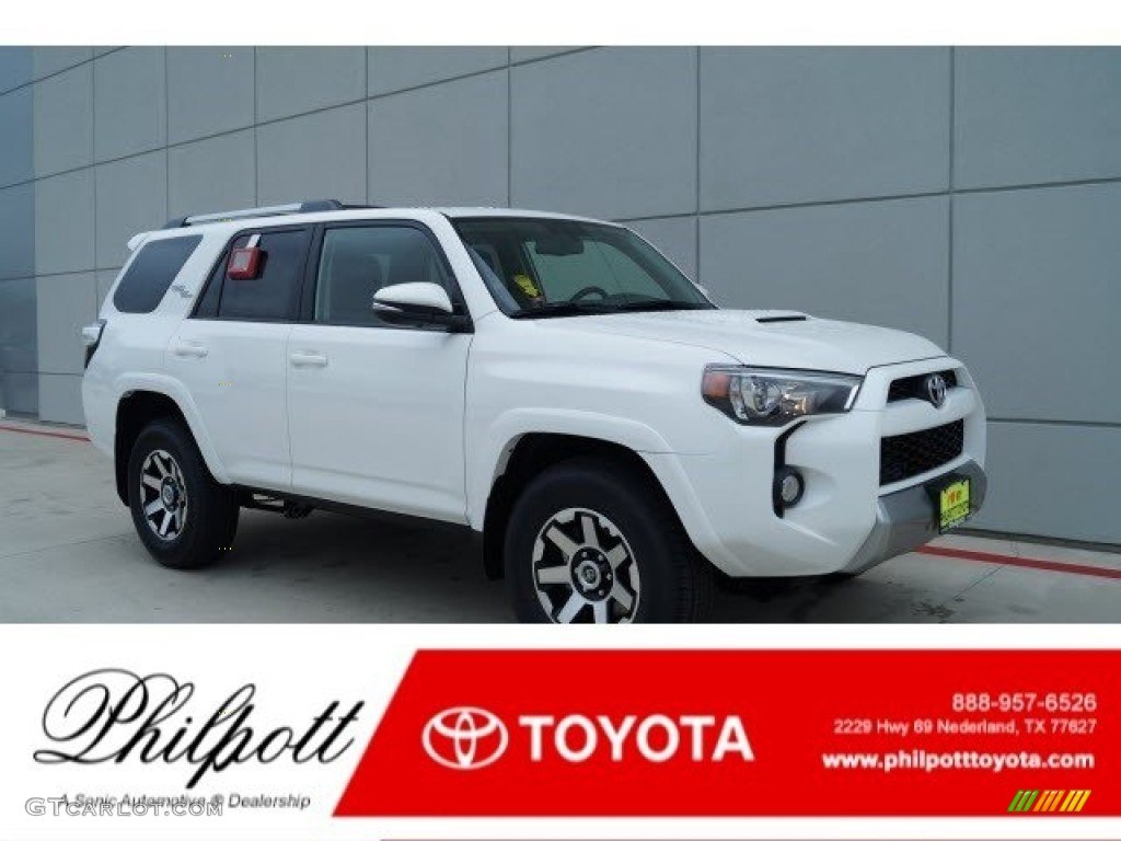 2017 super white toyota 4runner trd off road premium 4x4. Black Bedroom Furniture Sets. Home Design Ideas