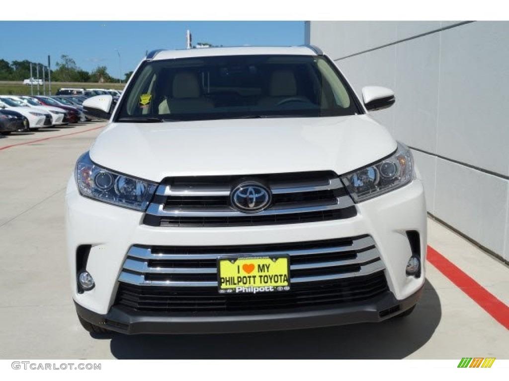 2017 Blizzard White Pearl Toyota Highlander Limited 120285805 Photo 2 Car
