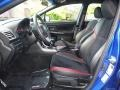 Carbon Black Front Seat Photo for 2015 Subaru WRX #120297075
