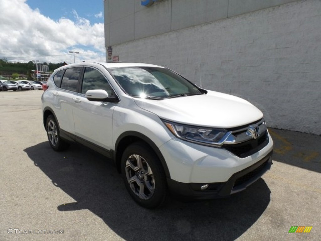 2017 CR-V EX AWD - White Diamond Pearl / Ivory photo #1