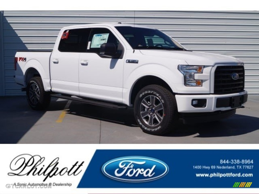 2017 F150 Race Red >> 2017 Oxford White Ford F150 XLT SuperCrew 4x4 #120317700 | GTCarLot.com - Car Color Galleries