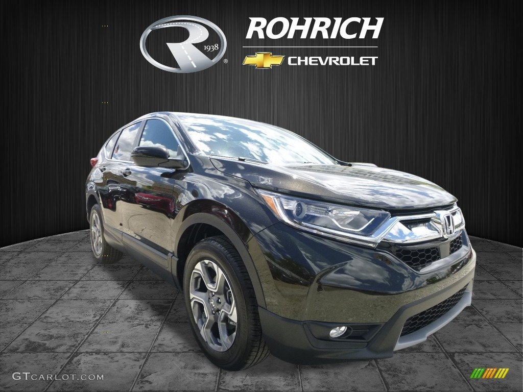 2017 CR-V EX-L AWD - Dark Olive Metallic / Black photo #1