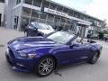 2016 Deep Impact Blue Metallic Ford Mustang EcoBoost Premium Convertible  photo #1