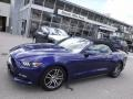 2016 Deep Impact Blue Metallic Ford Mustang EcoBoost Premium Convertible  photo #2