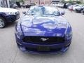 2016 Deep Impact Blue Metallic Ford Mustang EcoBoost Premium Convertible  photo #8